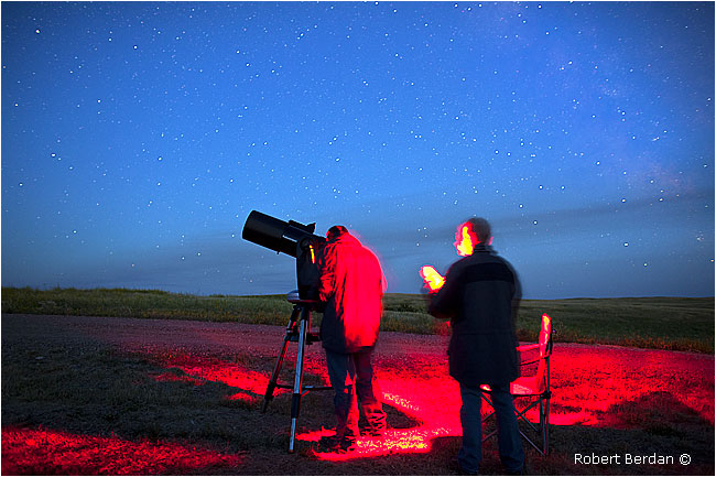 Telescope - star party by Robert Berdan Grasslands National Park by Robert Berdan ©