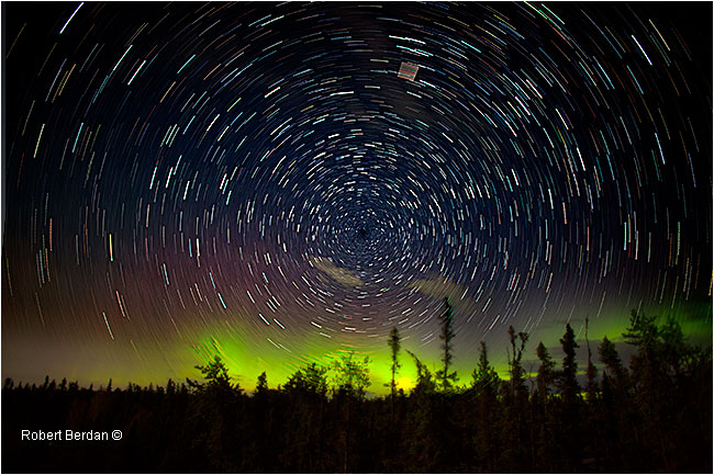 Star trails and aurora NWT by Robert Berdan ©