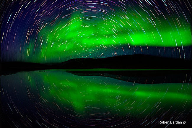 Aurora and star trails NWT by Robert Berdan ©