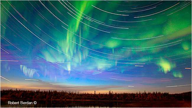 Star trails Prosperous Lake NWT by Robert Berdan ©