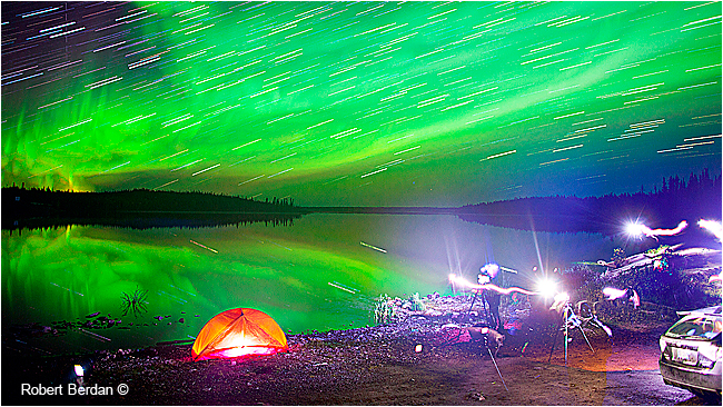 Star trails Pontoon Lake NWT by Robert Berdan ©