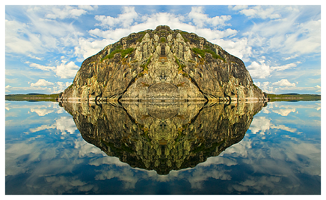 bilateral symmetry in landscape by Robert Berdan