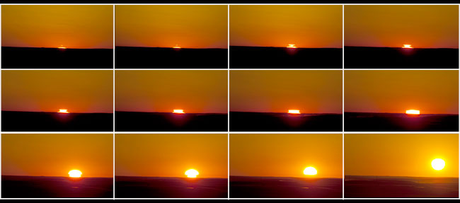 Sunrise sequence over the Prairies by Robert Berdan ©
