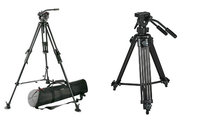 Manfrotoo tripods for Video
