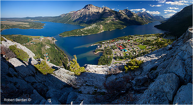 Panorama from the Bears Hump in Waterton National Park by Robert Berdan ©