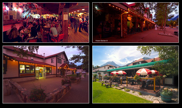 Thirsty bear saloon, main street, Bayshore Inn Spa and front porch by Robert Berdan ©
