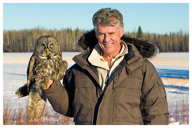 Dr. Wayne Lynch and Great Gray Owl