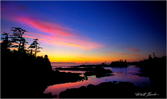 Sunset along the Wild Pacific Trail by Robert Berdan ©