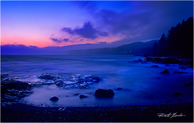 Sunset at Point no Point by Robert Berdan ©
