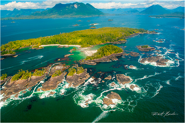 Meares Island from the air by Robert Berdan ©