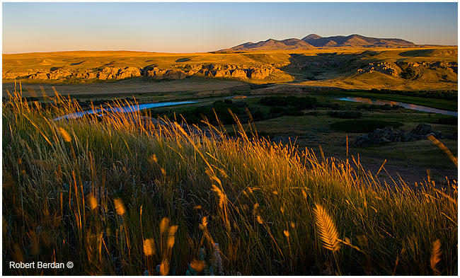 Evening light over Milk river Writing-on-Stone provincial park by Robert Berdan ©