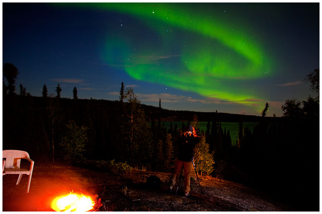 PHotographer and Aurora Borealis by Robert Berdan ©