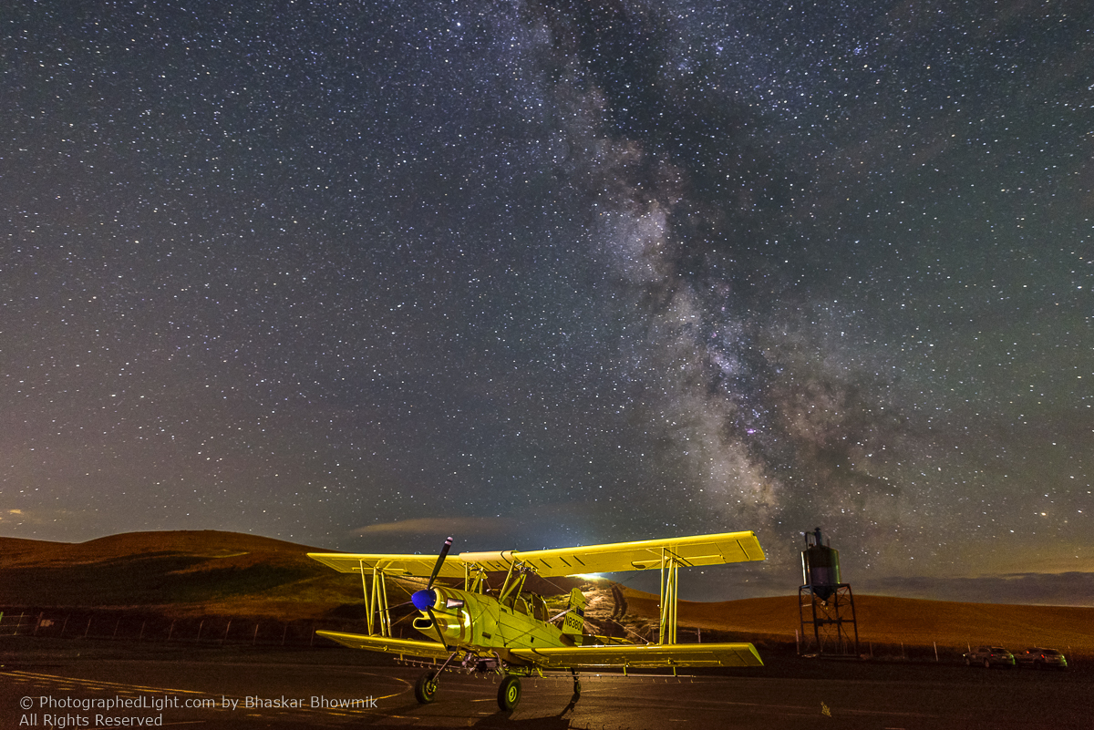 Crop duster at night by Bhaskar Bowmik ©