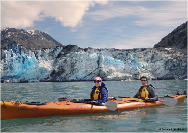 Sandy and Bruce Kayaking in Alaska by Bruce Lovelace ©