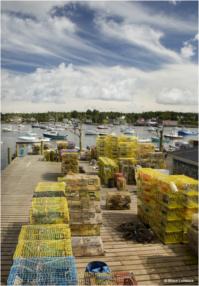 Dock with crab nets Mt Desert Island by Bruce Lovelace ©