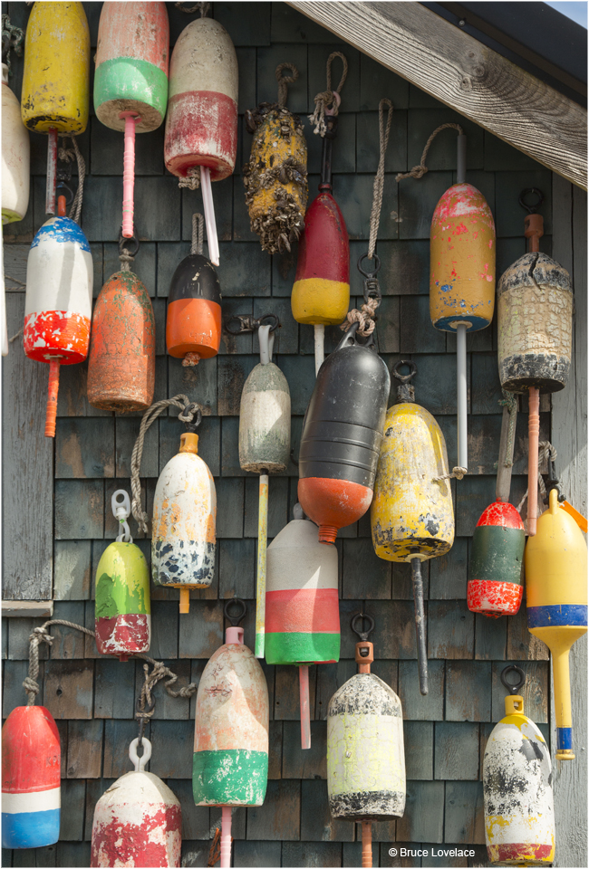 Bouys on the wall of a lighthouse by Bruce Lovelace ©