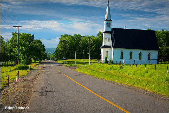 Highway 102 along the St. John River Valley New Bruinswick by Robert Berdan ©