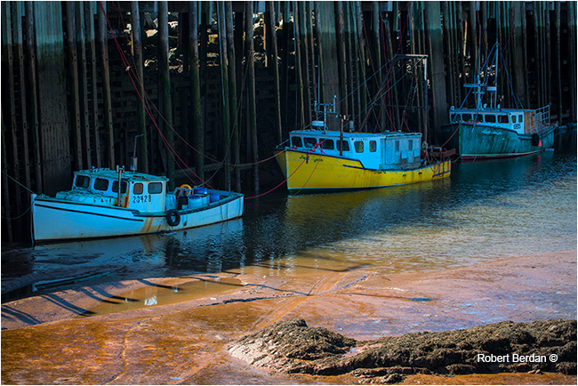 Boats at low tide by Robert Berdan ©