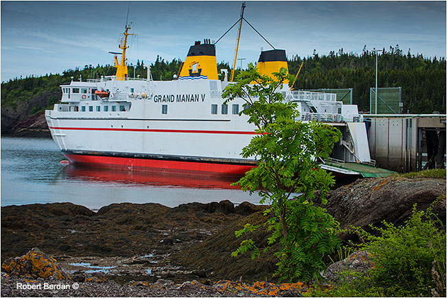 Grand Manan Ferry in Black's Harbour by Robert Berdan ©