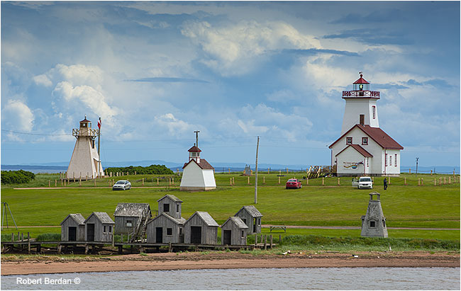 Wood Island Provincial Park and Lighthouse Prince Edward Island by Robert Berdan ©