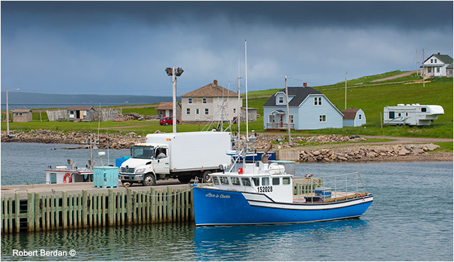 There is a small harbour at Cheticamp by Robert Berdan ©