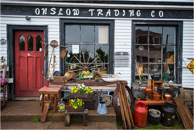 Gift shop along highway 2 -   onslow Trading Co by Robert Berdan