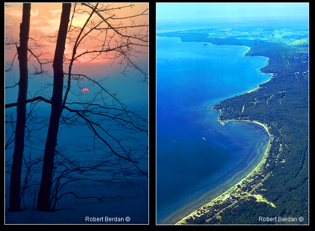 sunrise Midland Bay and Balm Beach from the air by Robert Berdan ©
