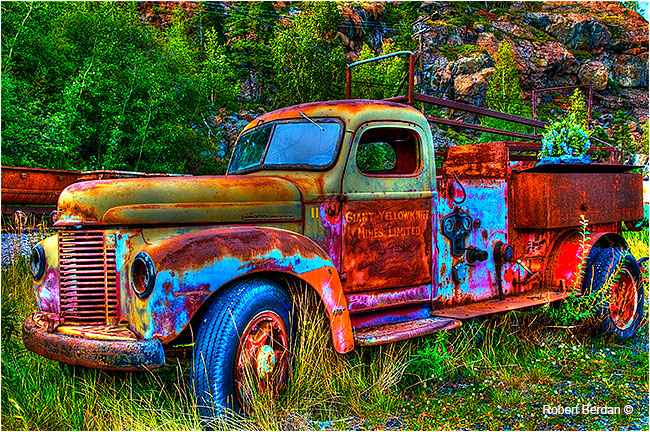 Old truck Yellowknife outdoor museum tone mapped by Robert Berdan ©