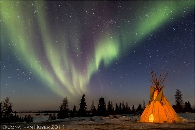 Northern Lights at Wat'chee Lodge by Jon Huyer ©