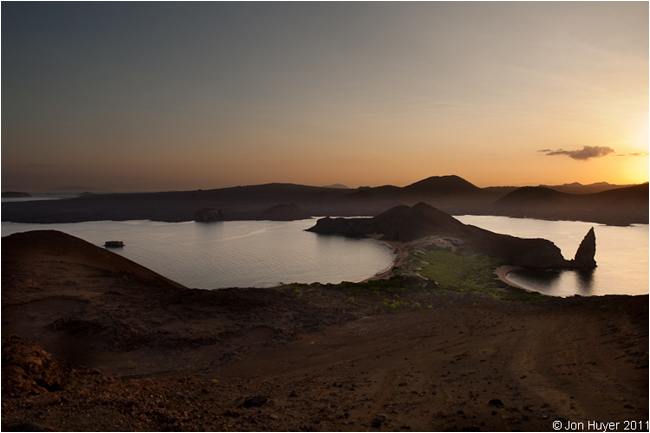 Bartolome island at sunset by Jon Huyer ©