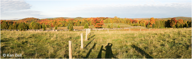 Ken Bell panoramic photo Ontario field in Autumn ©