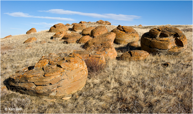 Red Rock Coulee concretions by Ken Bell ©