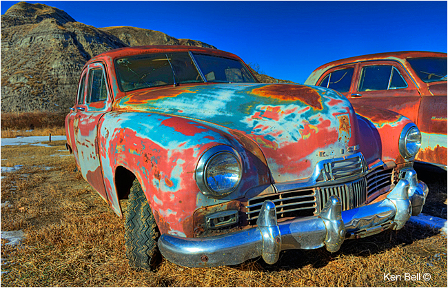 Old vehicles near the Hoodoos by Ken Bell ©