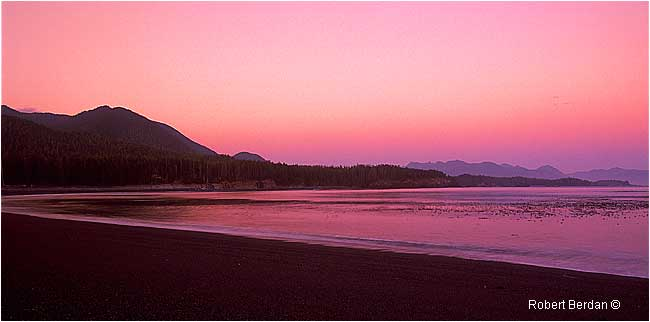 Sunset on Beano Beach, Nootka sound by Robert Berdan ©