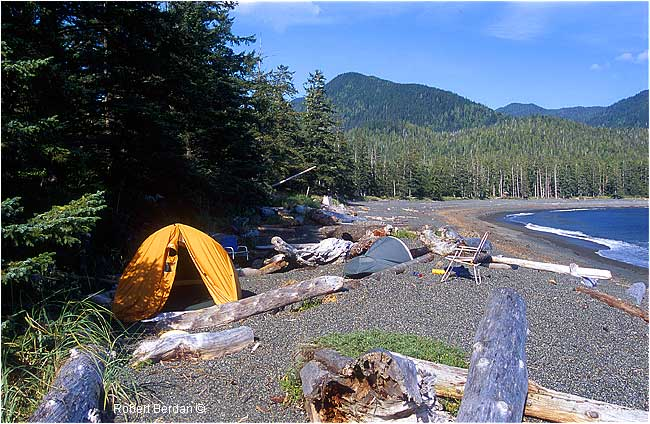 Camping along the Nootka Trail by Robert Berdan