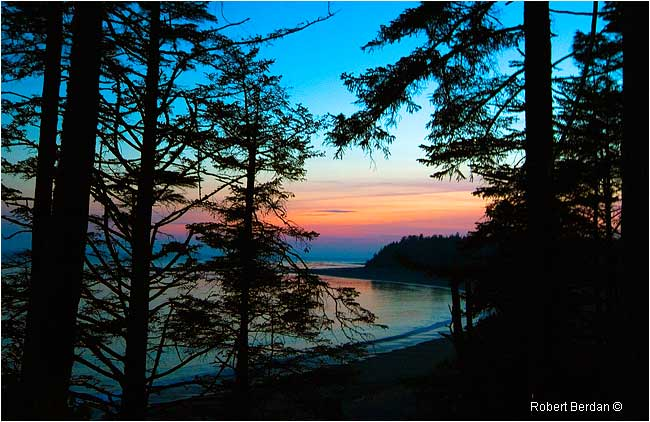 Sunset Beano Beach Nootka Trail by Robert Berdan ©