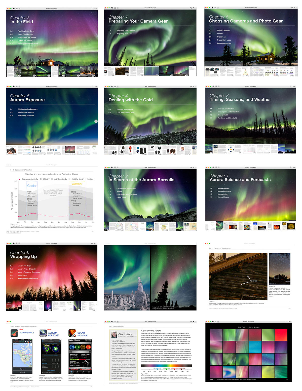 Patrick Endres ebook on Northern Lights Photography sample pages