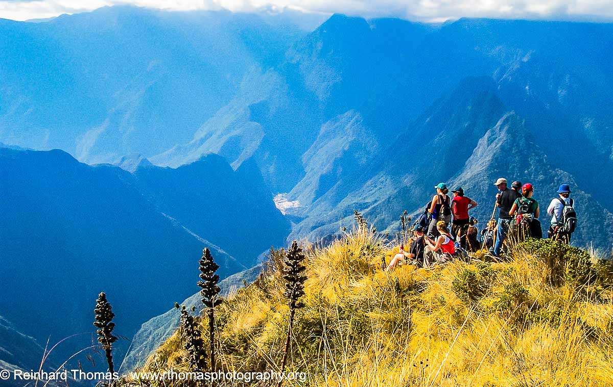 View from the Inca Trail onto Aguas Calientes in the Valley  by Reinhard Thomas ©