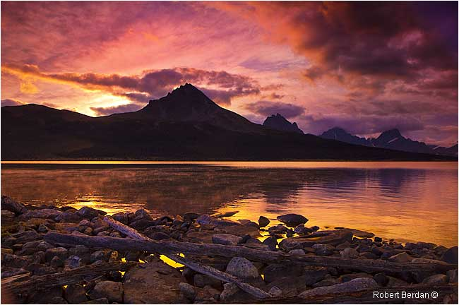Mt Clitheroe before sunrise from north end of Amethyst Lake by Robert Berdan ©