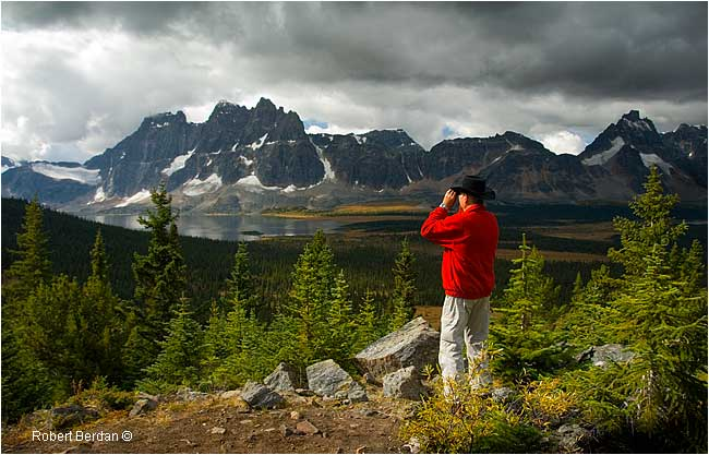 Cowboy looking over the Tonquin Valley by Robert Berdan ©