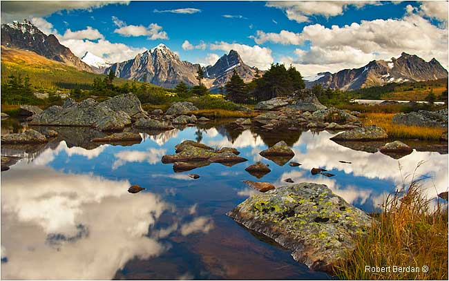 Ponds near the south side of Amethyst Lake by Robert Berdan