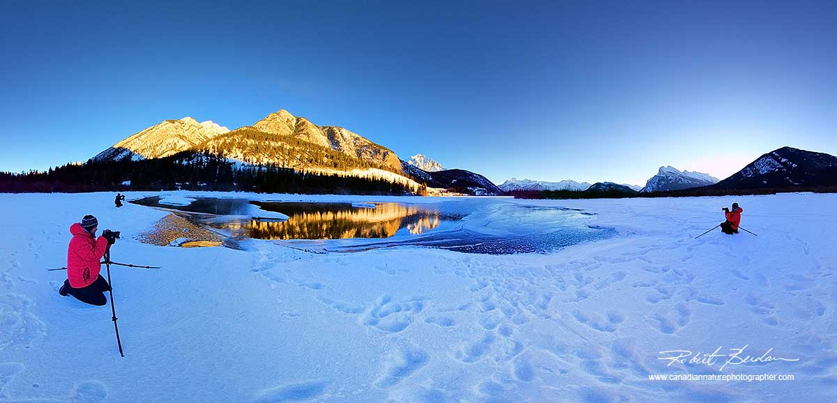 Panorama at Vermilion Lakes in Banff National Park, AB  by Robert Berdan ©