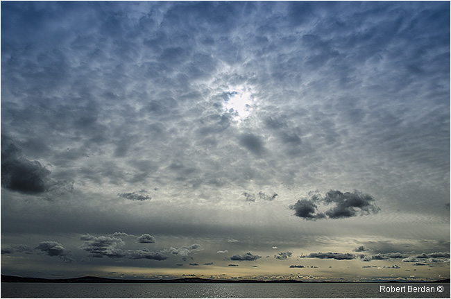 Clouds over Point lake, NWT by Robert Berdan ©