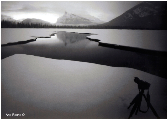 Pinhole black and white photograph of Vermillion lake by Ana Rocha ©
