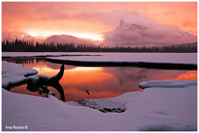Winter sunrise on Vermillion Lake by Ana Rocha ©