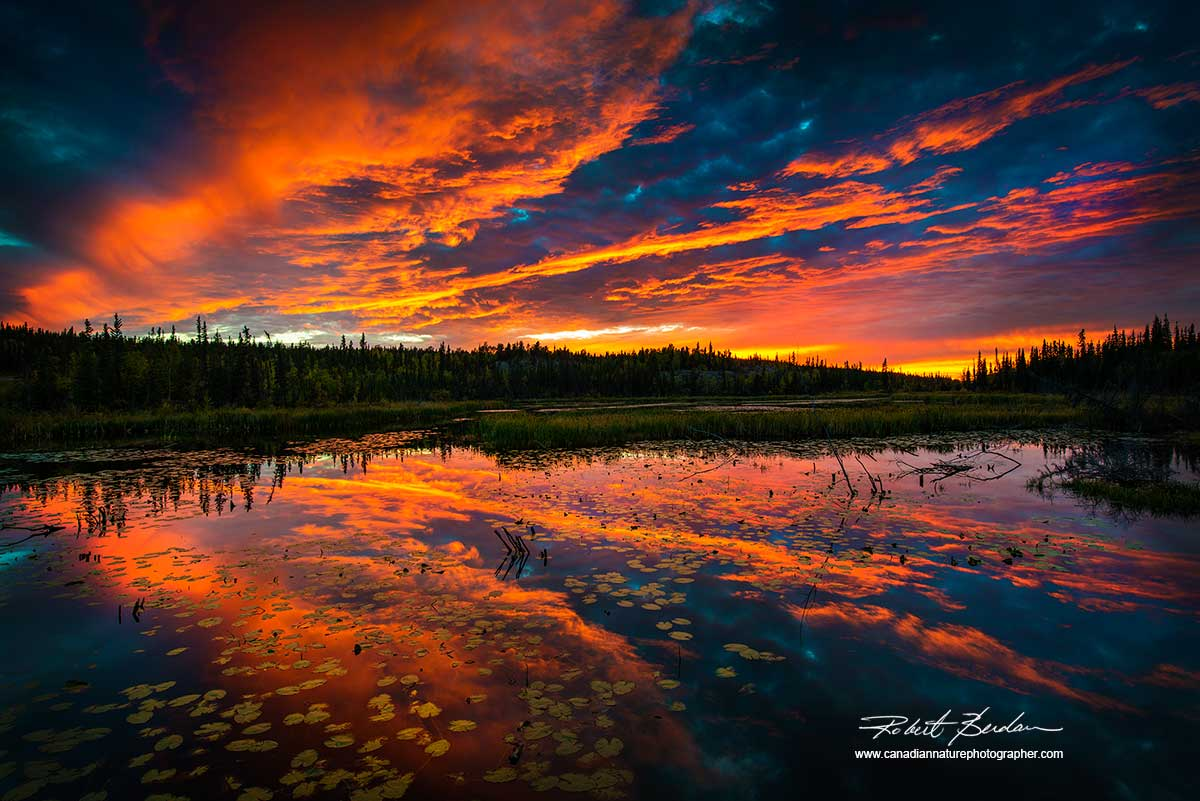 Sunset near Yellowknife by Robert Berdan ©