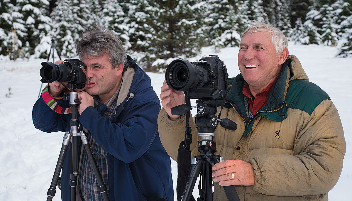 Frederic Subra and Michael Squance with cameras by Robert Berdan