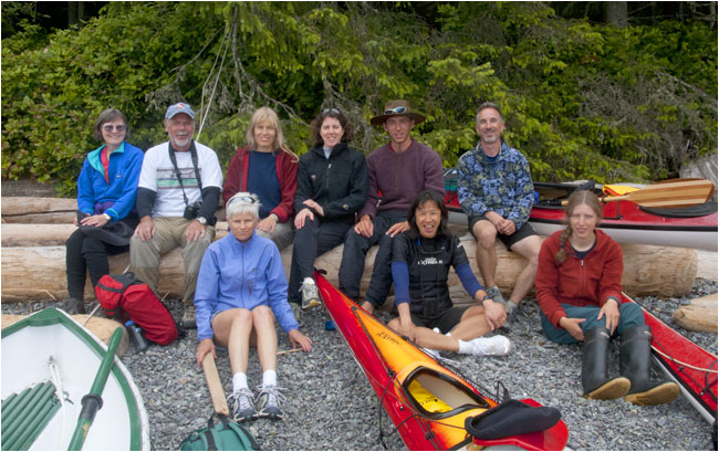Adventure photography tour group Kayaking on the West Coast aboard the Mothership III by Robert Berdan ©