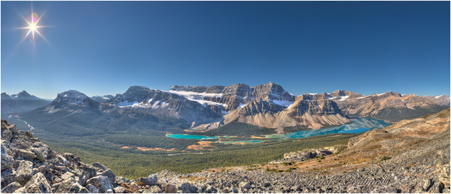 Bow Lake from Above  by Chris Ratynski ©