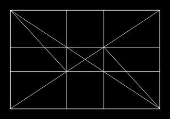 Diagram showing the Golden ratio by R. Berdan